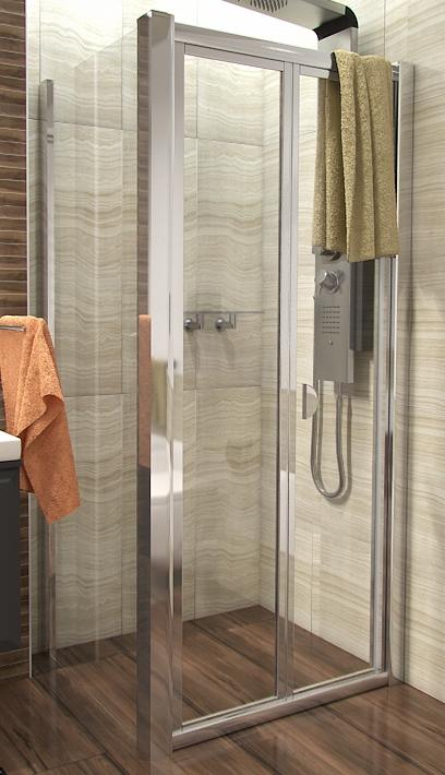 DELTA COMBI 90x90 Clear Well Sprchový kout se zalamovacími dveřmi, skladem, doprava zdarma