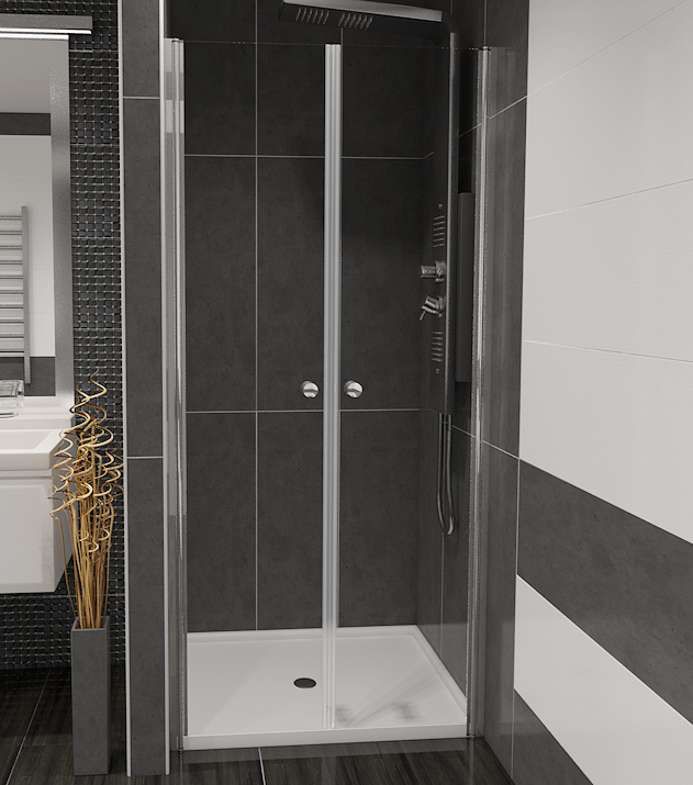 BETA 90 Čiré Well Sprchové dveře do niky dvoukřídlé, skladem, doprava zdarma
