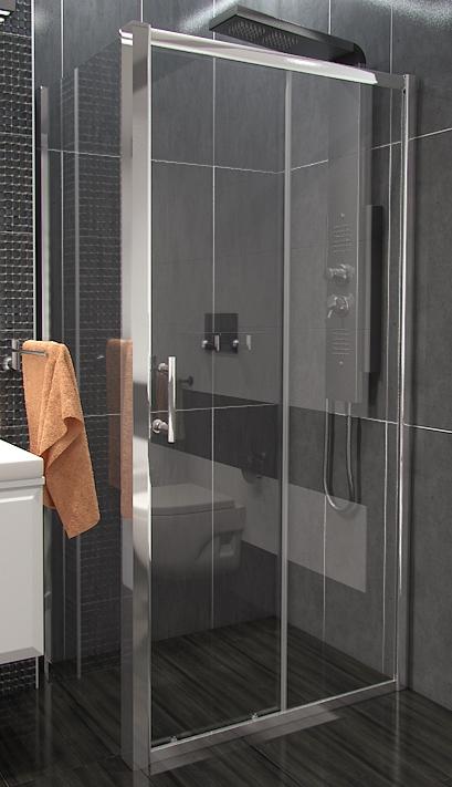 NICOL COMBI 100x80 čiré Well sprchová zástěna obdélníková, skladem, doprava zdarma