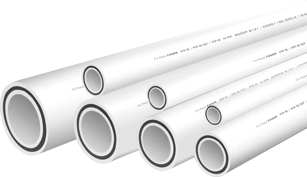 PPR Trubka PN 20 průměr 40×6,7 FASER bílá
