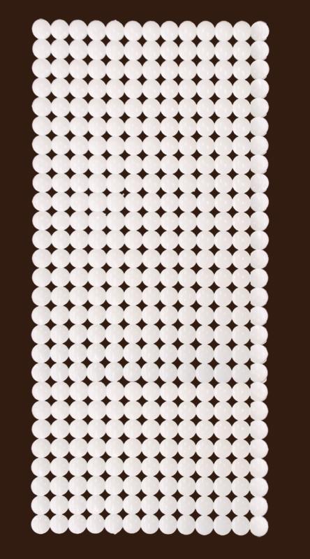 0155 Protiskluzová podložka do vany RONDO - bílá