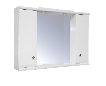 HELIOS 4 Olsen-Spa zrcadlo se skříňkami a osvětlením, skladem