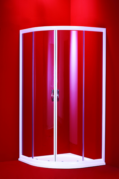 BARCELONA 90 mramorová vanička čiré sklo bílý rám Hopa sprchový kout -Akce, skladem