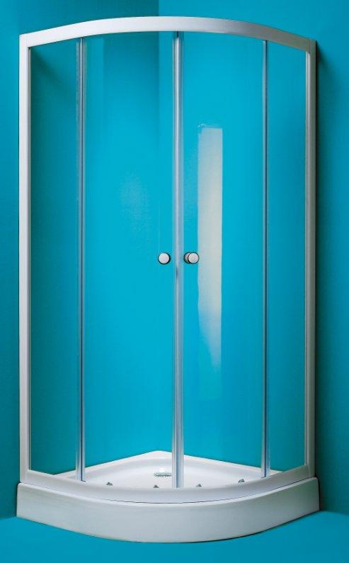 MADRID 90 Olsen-Spa sprchový kout bílý rám čiré sklo s akrylátovu vaničkou , skladem