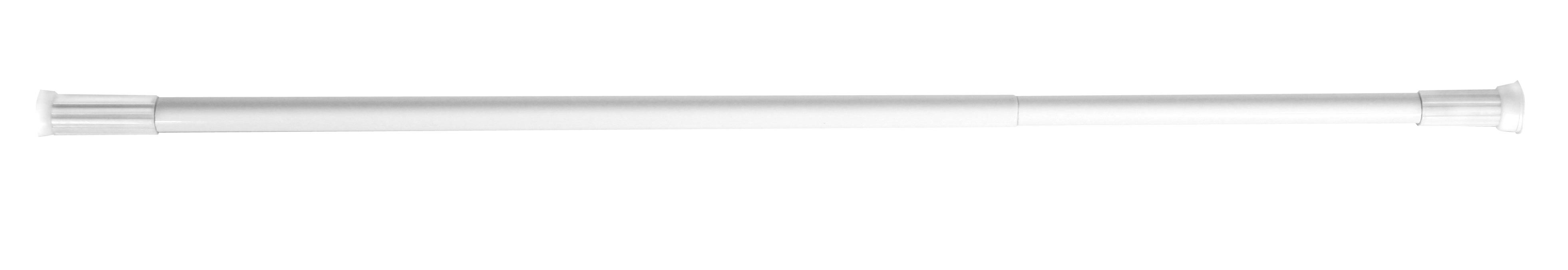 Tyč na sprchový závěs Olsen 70-120 bílá, skladem
