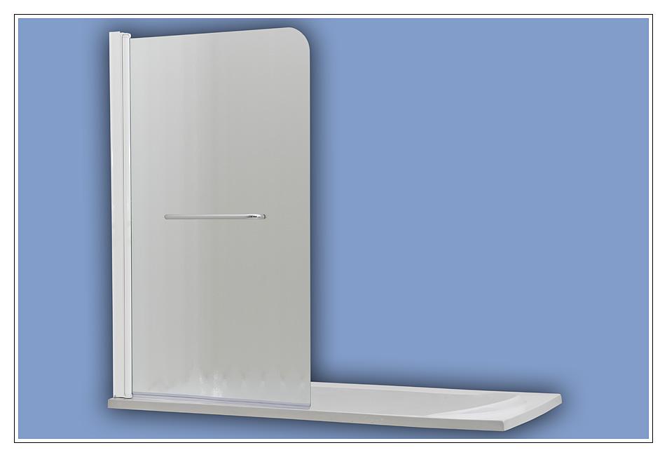 508 white chinchila Arttec vanová zástěna jednodílná s madlem , skladem