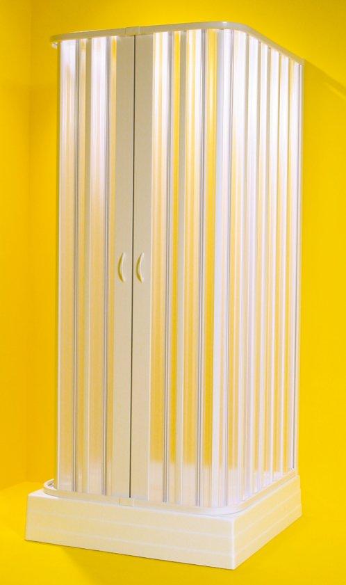 SATURNO 100-80 × 100-80 × 100-80 × 185 cm Olsen-Spa sprchová zástěna, skladem