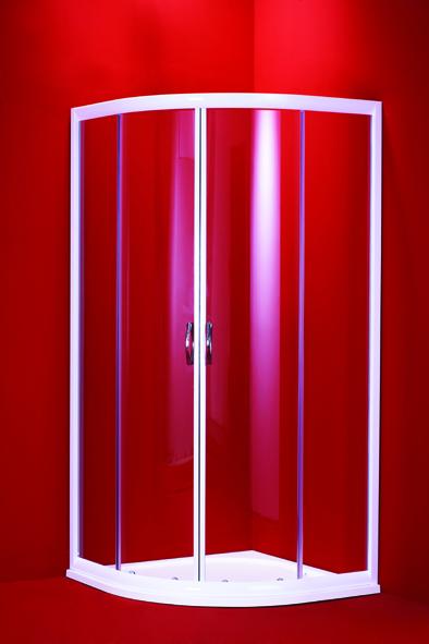 BARCELONA 90 mramorová vanička čiré sklo chrom rám Hopa sprchový kout - Akce, skladem