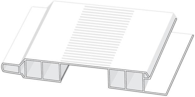 D410601 Hopa Ventilační profil venkovní 01 bílá 3m, skladem
