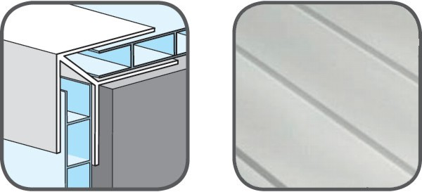 Hopa Venkovní rohový profil 01 bílá 3m, skladem