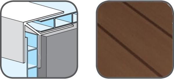 Hopa Venkovní rohový profil 07 tmavé dřevo 3m, skladem