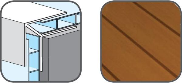 Hopa Venkovní rohový profil 08 světlé dřevo 3m, skladem