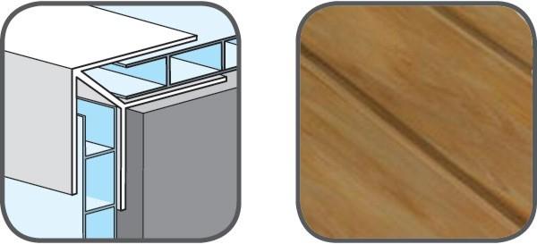 Hopa Venkovní rohový profil 28 hnědý melír 3m, skladem