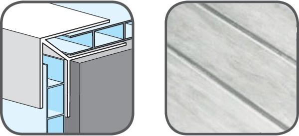 Hopa Venkovní rohový profil 29 mramor 3m, skladem