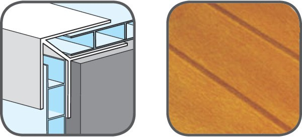 Hopa Venkovní rohový profil zacvakávací 31 zlatý dub 5m, skladem