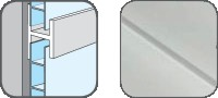 DA10301 Hopa Spojovací profil plastový 01 bílá 3m, skladem