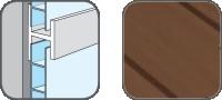 DA10307 Hopa Spojovací profil plastový 07 tmavé dřevo 3m, skladem