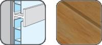 DA10328 Hopa Spojovací profil plastový 28 hnědý melír 3m, skladem