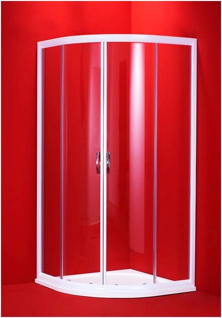 BARCELONA 80x80 bílý rám čirá Olsen-Spa sprchový kout, skladem