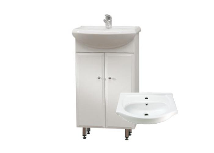 BEATA 65 ZV Well Koupelnová skříňka s umyvadlem, závěsná s nožičkami, skladem