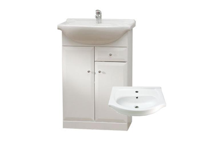 BEATA S 50 Well Koupelnová skříňka s umyvadlem, sokl, zásuvka , skladem