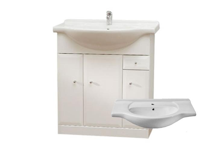BEATA S 75 Well Koupelnová skříňka s umyvadlem, sokl, zásuvka , skladem