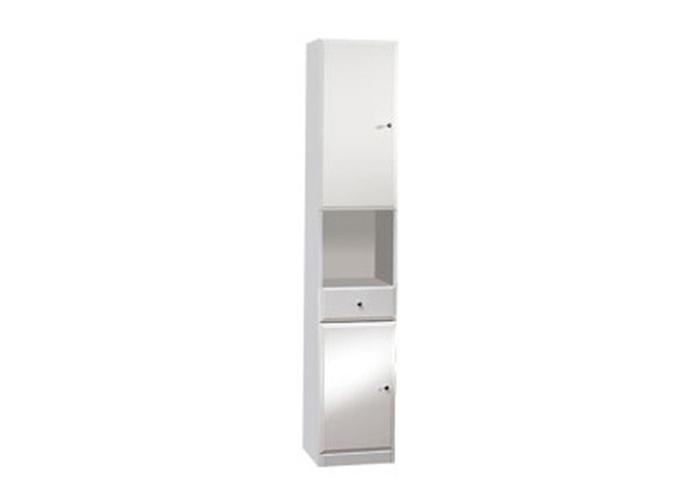 BEATA V 32 L Well Koupelnová skříňka vysoká, sokl, levá, skladem