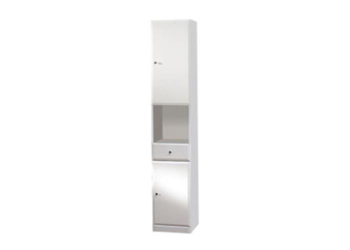 BEATA V 32 P Well Koupelnová skříňka vysoká, sokl, pravá, skladem