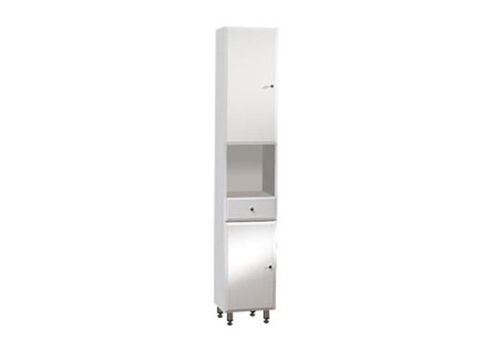 BEATA V 32 ZV L Well Koupelnová skříňka vysoká závěsná s nožičkami, levá, skladem