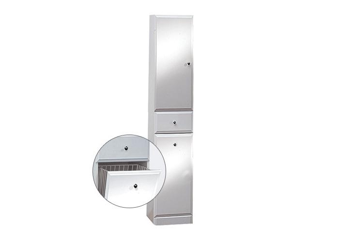 BEATA VK 170 L Well Koupelnová skříňka vysoká plná, sokl, koš, levá, skladem