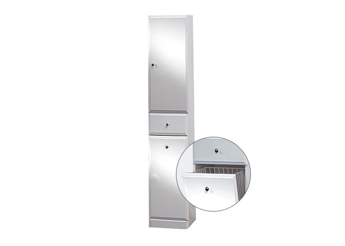 BEATA VK 170 P Well Koupelnová skříňka vysoká plná, sokl, koš, pravá, skladem