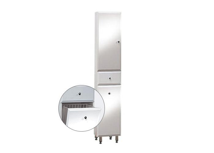 BEATA VK 170 ZV L Well Koupelnová skříňka vysoká plná, závěsná s nožičkami, koš, levá, skladem
