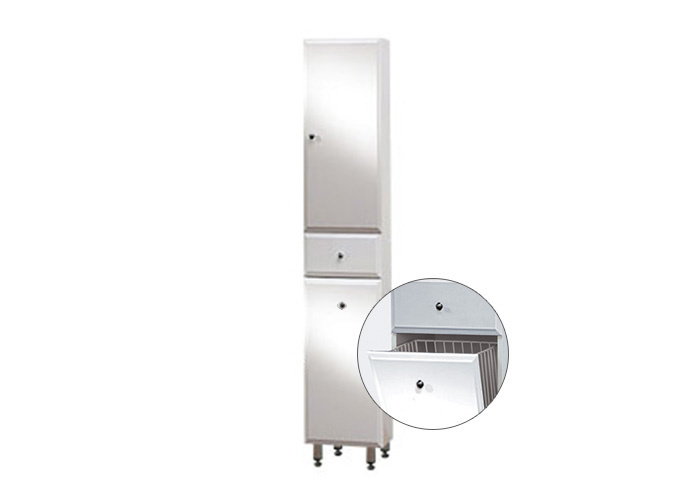 BEATA VK 170 ZV P Well Koupelnová skříňka vysoká plná, závěsná s nožičkami, koš, pravá, skladem