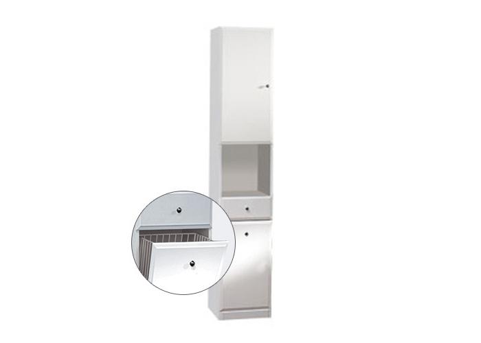 BEATA VK 32 L Well Koupelnová skříňka vysoká, sokl, koš, levá, skladem