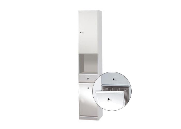 BEATA VK 32 P Well Koupelnová skříňka vysoká, sokl, koš, pravá, skladem