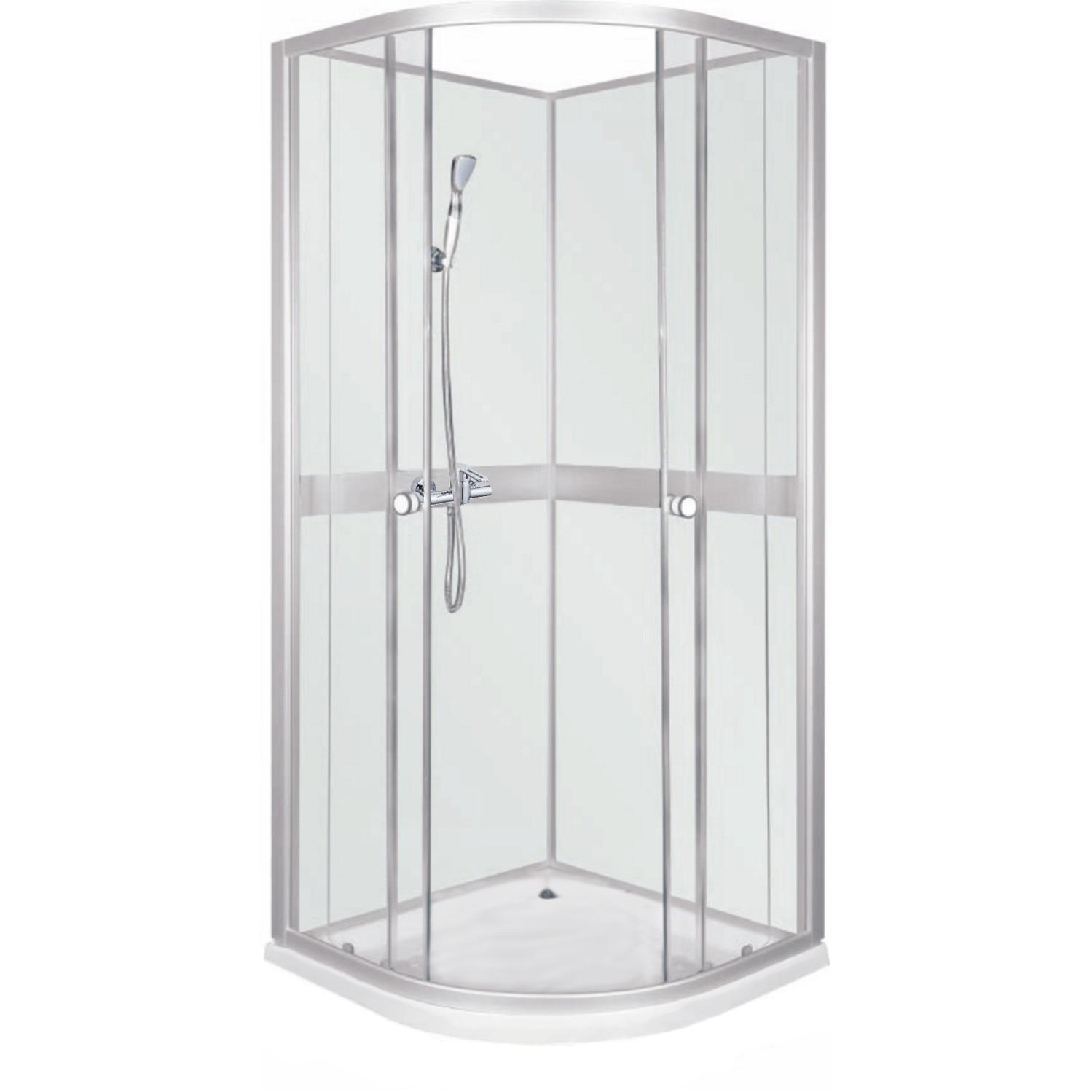 NANCY 90 ALEXSTONE Well Sprchový box bílý s mramorovou vaničkou, skladem