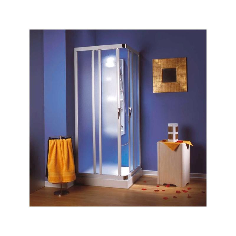VELA 90 x 90 cm chrom/satinato Olsen-Spa Sprchový čtvercový kout s vaničkou Aquarius, skladem