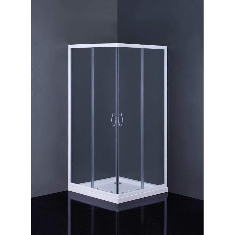 Čtvercový sprchový set Linares+Aquarius Olsen-Spa, s akrylátovou vaničkou, skladem