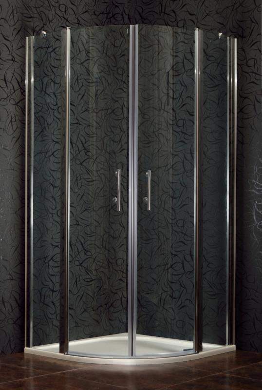 DOVER 90 Clear MRAMOR Sprchový kout čtvrtkruhový s mramorovou vaničkou, skladem, doprava zdarma
