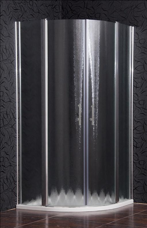 DOVER 90 Grape MRAMOR Sprchový kout čtvrtkruhový s mramorovou vaničkou, skladem, doprava zdarma