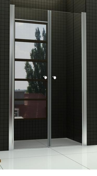 BETA 90 Čiré Well Sprchové dveře do niky dvoukřídlé, skladem