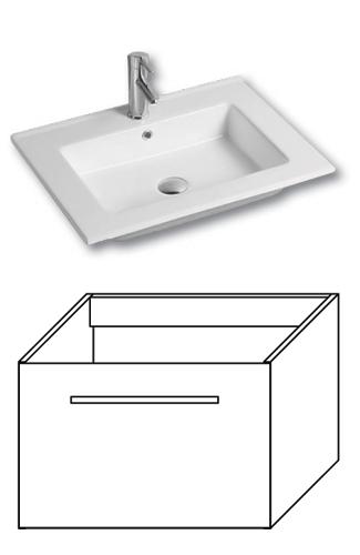 F-EXCLUSIVE-U60 Olsen-spa Skříňka s umyvadlem 60 cm, závěsná, bílá, skladem