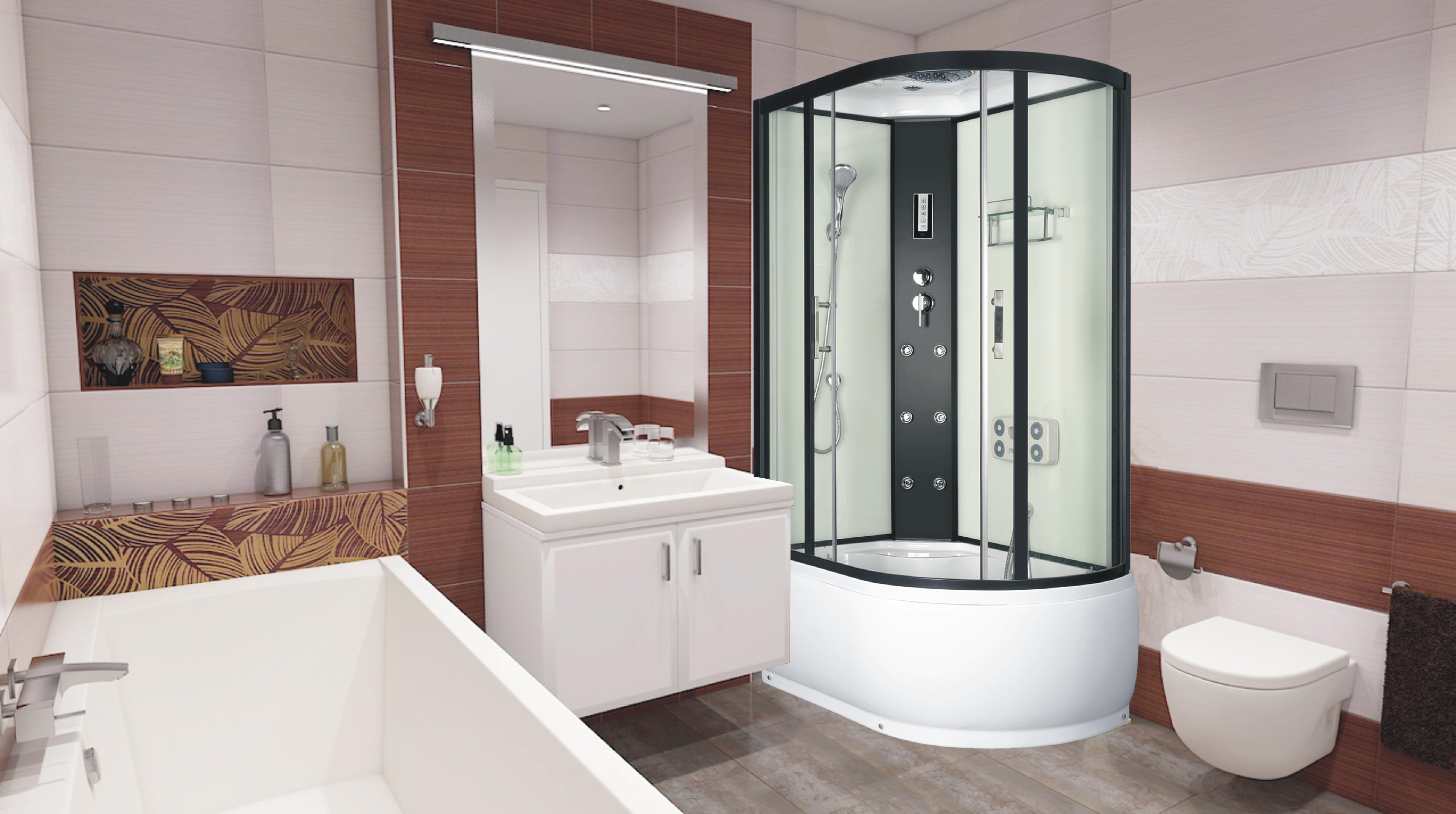 LORAIN 120x80 levá Well sprchový masážní box + sifon ZDARMA, skladem