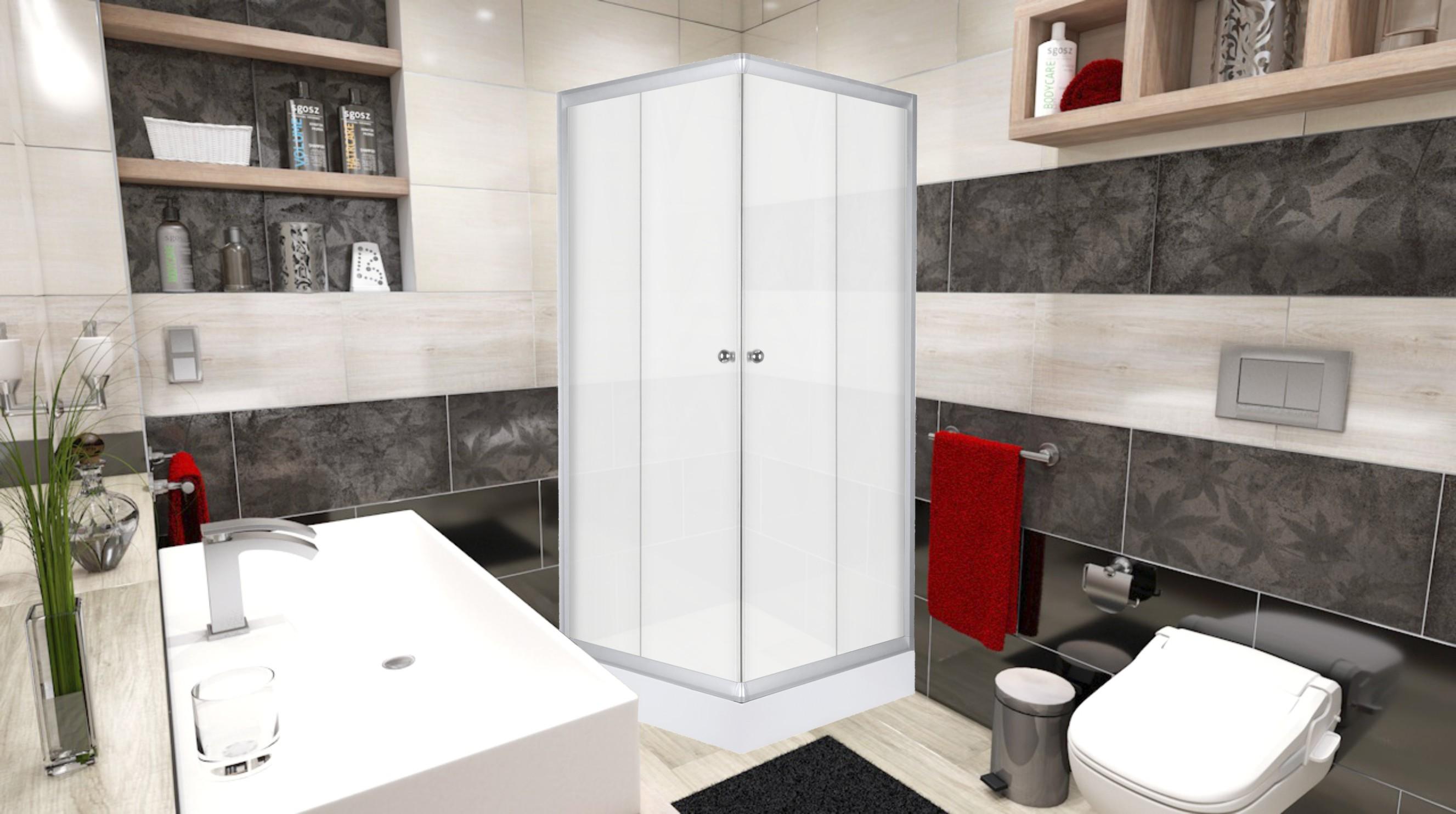FRANK Q 1580 Well sprchový kout čtvercový s akrylátovou vaničkou, skladem