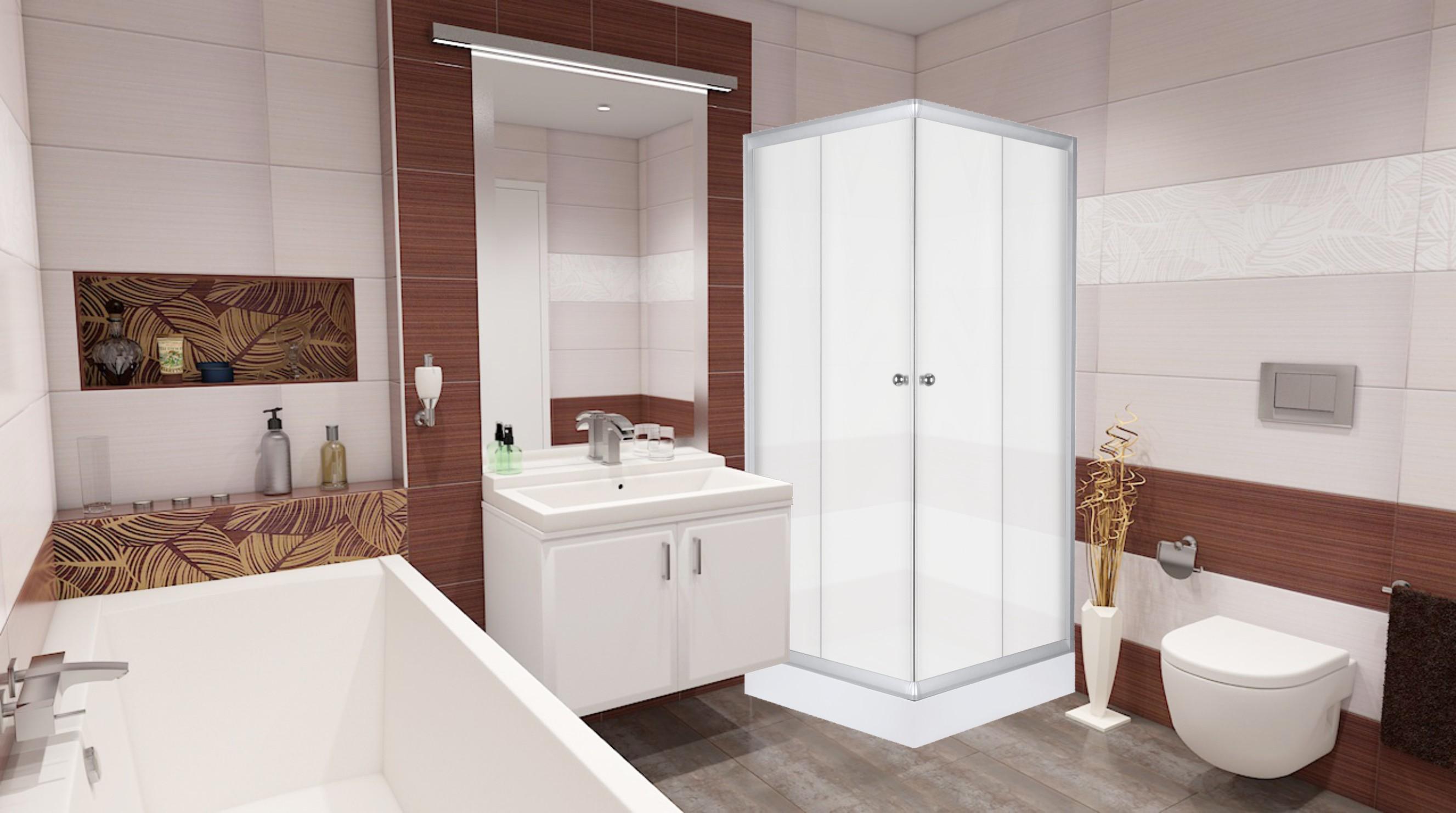 FRANK Q 1570 Well sprchový kout čtvercový s akrylátovou vaničkou, skladem