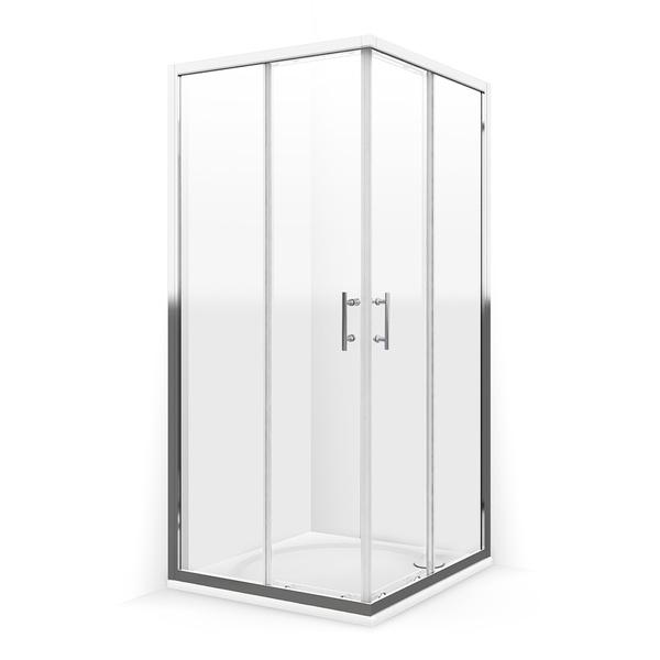ELBA MRAMOR Well Čtvercová sprchová zástěna s mramorovou vaničkou, skladem