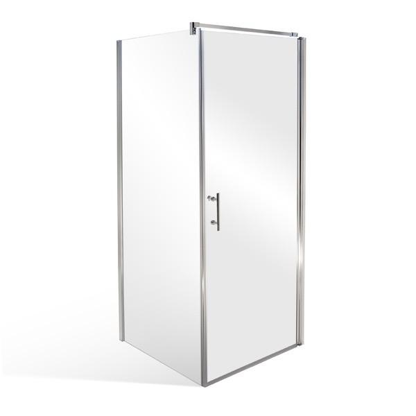ELISON 90 MRAMOR Well Luxusní čtvercová sprchová zástěna s mramorovou vaničkou, skladem