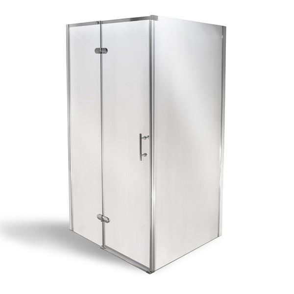 MANU ZINA 80 x 100 cm + MRAMOR vanička Well Luxusní obdélníková sprchová zástěna, skladem