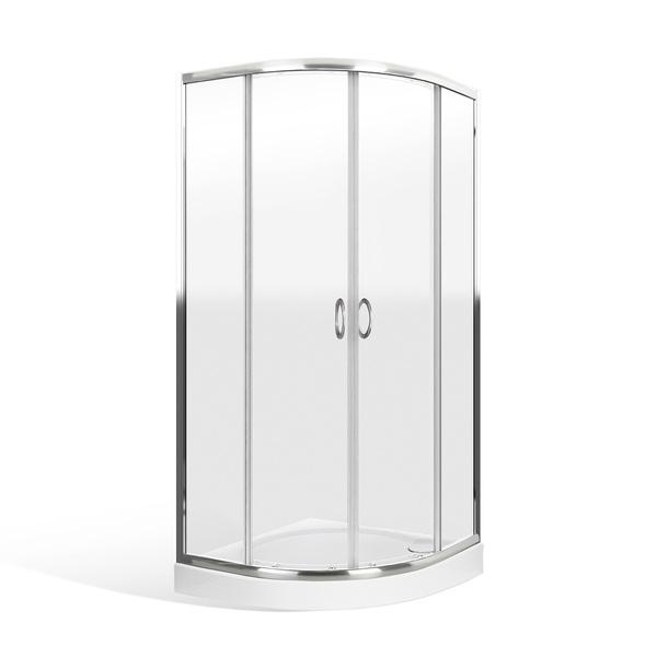 MATT 80 MRAMOR Well Čtvrtkruhový sprchový kout s mramorovou vaničkou, skladem