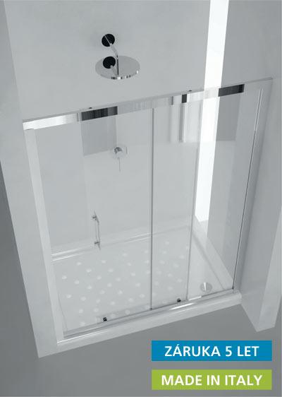 MAYA 130×190 cm sklo čiré Hopa sprchové dveře, skladem